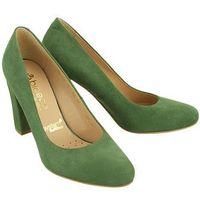 BIOECO BY ARKA BI 5405 1053 zielony, czółenka damskie, kolor zielony