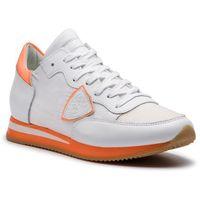 Sneakersy PHILIPPE MODEL - Tropez TRLD NV04 Mondial Neon Blanc Orange
