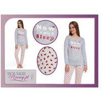 Piżama damska sleep: szary melanż, Cornette