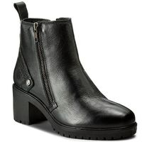 Botki WRANGLER - Sierra Zip Leather WL172513 Black 62, kolor czarny