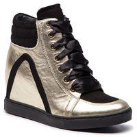 Sneakersy BALDOWSKI - W00559-SNIK-003 Mustang Złoty Sat./Zamsz Czarny