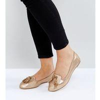 wide fit flat tassle slippers - copper marki London rebel