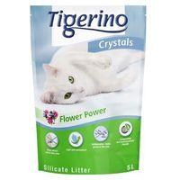 Tigerino Crystals Flower-Power żwirek dla kota - 6 x 5 l (ok. 12,6 kg)