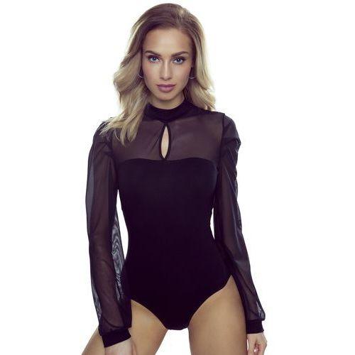 Alex body damskie romantica top czarne - czarny marki Eldar