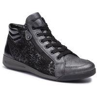 Sneakersy ARA - 12-44407-15 Silber/Schwarz