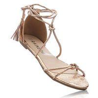 Sandały kolor czerwonego złota, Bonprix, 35-42