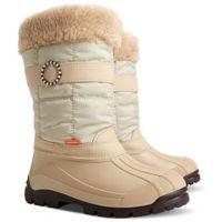Śniegowce Beżowe Demar Anette B 33/34, kolor beżowy