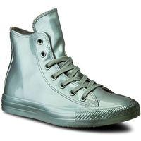 Sneakersy CONVERSE - Ctas Metallic Rubber Hi 553268C Metallic Glacier/Glacier, kolor zielony