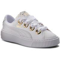 Sneakersy PUMA - Platform Kiss Ath Lux Wn's 366704 01 Puma White/Puma White, kolor biały