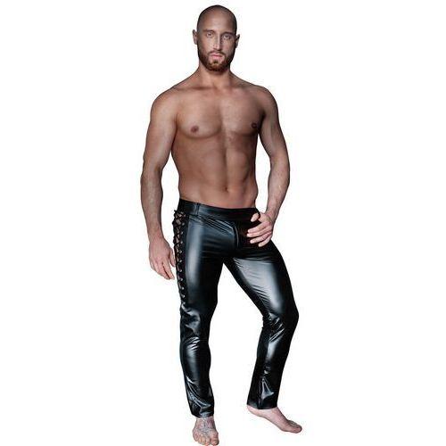 Noir handmade Skórzane spodnie ze sznurowaniem herren hose schnüre, kolor: black, rozmiar: xl