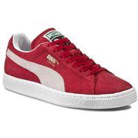 Półbuty - suede classic + 352634 05 team regal red/white, Puma