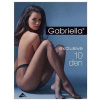Rajstopy exclusive 10 den beige/odc.beżowego - beige/odc.beżowego marki Gabriella