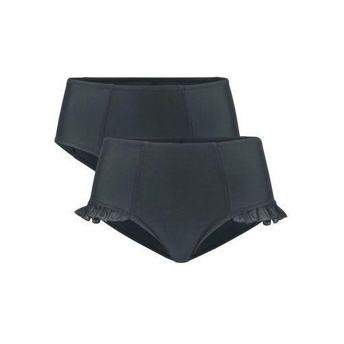 Figi bikini wyszczuplające (2 pary) bonprix czarny + czarny, figi
