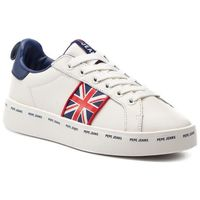 Sneakersy - brixton greek pls30874 white 800, Pepe jeans