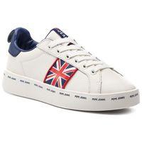 Sneakersy PEPE JEANS - Brixton Greek PLS30874 White 800, w 6 rozmiarach