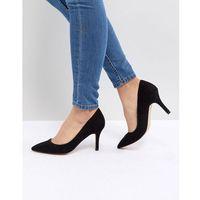 Faith Chariot Heeled Court Shoes - Black, kolor czarny