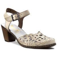 Sandały - 40975-80 beżowy, Rieker, 38-41