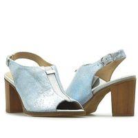 Klimpol Sandały 606-883 niebiesko-srebrne