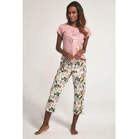 Bawełnian piżama damska Cornette 3 częściowa 665/172 Come True różowa