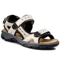Sandały - 68872-60 beige kombi marki Rieker
