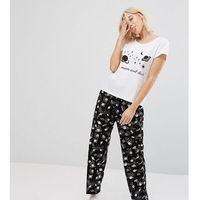 Monki to the moon and back pyjama set - black