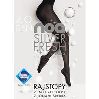 Rajstopy noq silver fresh 40 den rozmiar: 4, kolor: czarny/nero, knittex marki Knittex