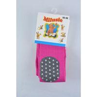 Rajstopy bawełniane abs kolanka - różowe - rozmiar 80/86 - marki Milusie