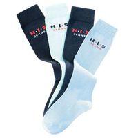 Podkolanówki H.I.S (4 pary) bonprix niebieski + jasnoniebieski + głęboki niebieski + ciemnoniebieski, kolor niebieski