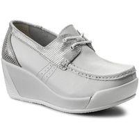 Półbuty LANQIER - 40C1555 Biały/Srebrny, 1 rozmiar