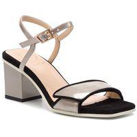 Sandały BALDOWSKI - D02405-3024-G05 Zamsz Czarny/Specchio Phard, w 5 rozmiarach