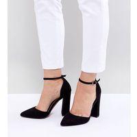 Asos design pebble wide fit pointed high heels - black