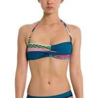 strój kąpielowy BENCH - Twist Bandeau Top A0648-Crazy Small Stripe Repea (P1202)