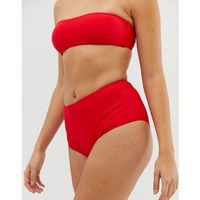 Missguided mix and match high waisted bikini bottoms in red - red