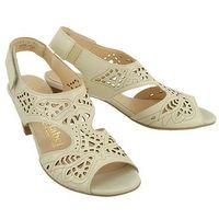710808-81 offwhite, sandały damskie, Comfortabel