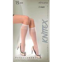 Podkolanówki Knittex Africana A'2 uniwersalny, beżowy/camel. Knittex, uniwersalny, kolor beżowy