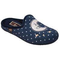 Kapcie Pantofle domowe Ciapy MANITU 320470-5 Granatowe - Granatowy ||Niebieski ||Szary ||Multikolor