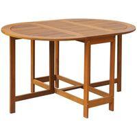 Vidaxl owalny stół ogrodowy, obustronnie składany, z drewna akacjowego (8718475502647)