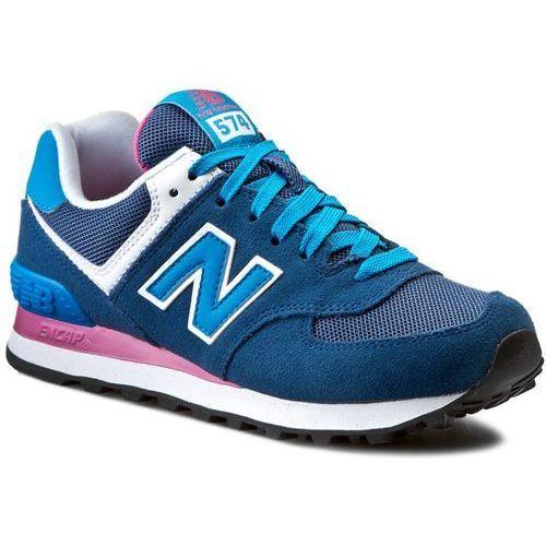 Sneakersy NEW BALANCE - WL574MOY Niebieski, kolor niebieski