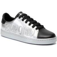 Sneakersy EMPORIO ARMANI - X3X061 XM085 R571 Silver/Black, w 5 rozmiarach
