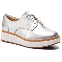 Oxfordy CLARKS - Teadale Rhea 261421614 Silver Metallic, w 8 rozmiarach