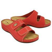 TAMARIS 27510-20 500 red, klapki damskie - Czerwony, kolor czerwony
