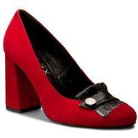 Półbuty ANN MEX - 7972 14W+01 Czerwony, kolor czerwony