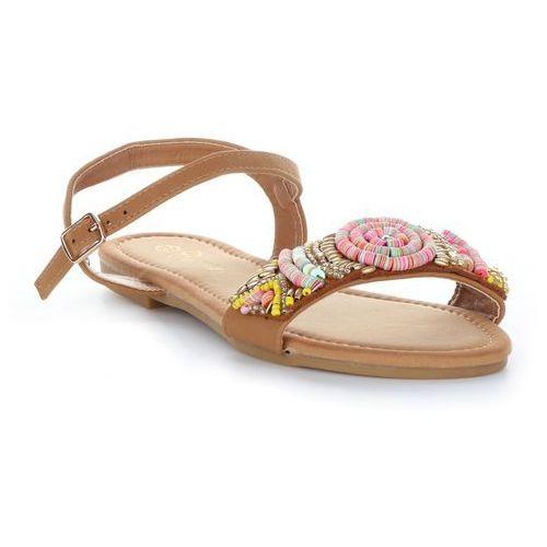 Gatisa Oryginalne sandały damskie ze zdobieniami firmy beżowe (kolory)