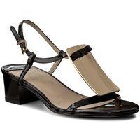 Sandały SAGAN - 2694 Czarny Lak/Złoto, w 2 rozmiarach