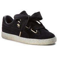 Sneakersy - suede heart celebrate 365561 01 puma black/puma black marki Puma