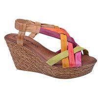 Hiszpańskie Sandały VERANO 739 Multicolor damskie na haluksy, kolor wielokolorowy