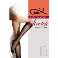 Podkolanówki Gatta Stretch A'2 ROZMIAR: uniwersalny, KOLOR: kremowy/panna, Gatta, kolor beżowy