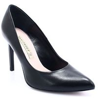 1373 czarne - klasyczne szpilki - czarny, Bravo moda