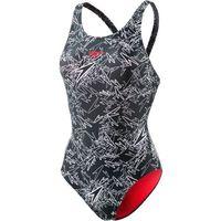 SPEEDO Strój kąpielowy sportowy 'Boom Allover Muscleback' czarny / biały