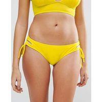 hipster lace up bikini bottom - yellow marki Lost ink